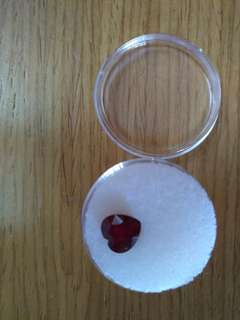 Natural genuine heart cut red ruby 2 carats