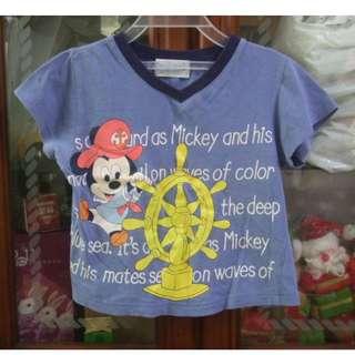 🚚 二手~童裝 麗嬰房 DISNEY 米奇 短袖 T恤 上衣~1號 (1歲)  #五十元好物