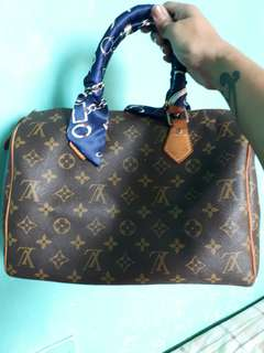 LV speedy 30 + trifold wallet (monogram)