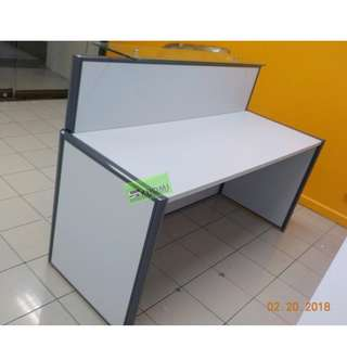 RD-377 CUSTOMIZE RECEPTION TABLE GLASS COUNTER TOP--KHOMI