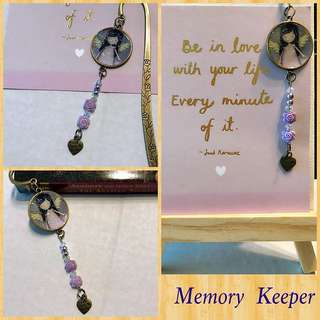 Handmade Bookmark Charm - Angel
