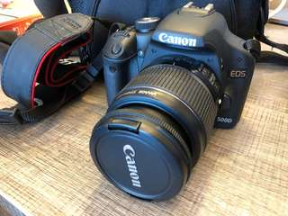 *Rarely used* Canon EOS 500D with 18-55 Canon lens