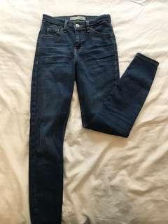 Top shop mid rise dark blue denim jeans