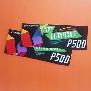 Arrowland Gift Certificates