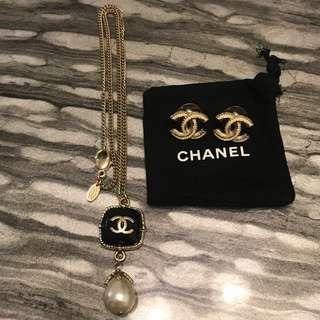 Chanel 頸鍊及耳環 necklace earrings