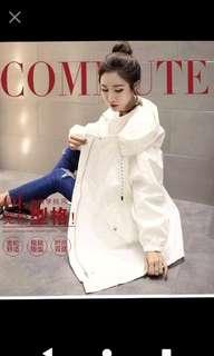 🚚 韓版中長款大尺碼寬鬆女風衣 現貨只有黑L/卡其XL各1件