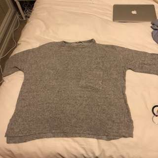 Grey soft jumper