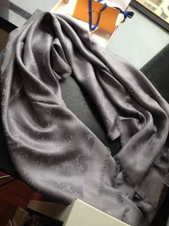 Authentic Preowned Silver Monogram shine shawl