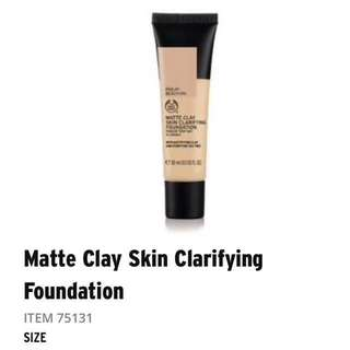 Body Shop Matte Clay Skin Clarifying Foundation [Railay Beach]