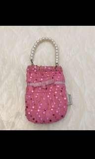 Bling Mesh Pearl handle bag/Hp/accessories Cushion carrier!