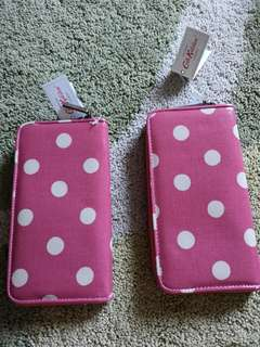 Cath Kidston Zip wallet / button spot pink (2 items available)