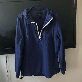 💕Oversized blue parka hoodie jacket