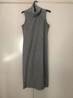 Grey turtle neck dress