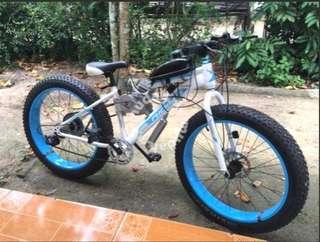 Hybrid fat bike 48cc