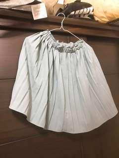 🚚 芋頭綠 可愛氣質百摺短裙