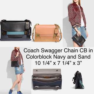 Coach swagger chain cb in colorblock