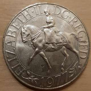 1977 Great Britain Queen Elizabeth II Crown Coin