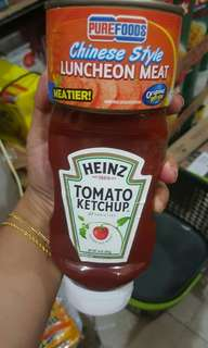 Heinz ketchup and luncheon meat