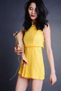 Colette yellow playsuit