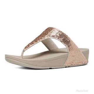 FITFLOP Electra Micro Toe Post Rose Gold US6