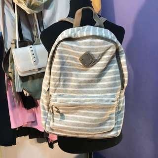 Claire's Beige Stripes Backpack