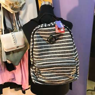 Claire's B&W Stripes Backpack