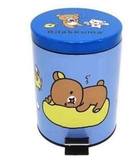 🚚 SAN-X RILAKKUMA拉拉熊不鏽鋼垃圾桶 5L