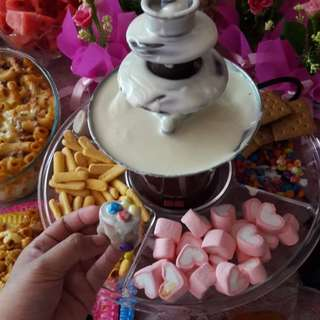 Choco fountain and dessert table!!