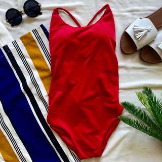 Kendall one piece bikini in red