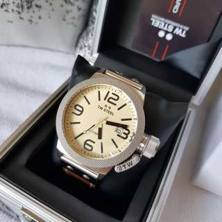Authentic TW STEEL Canteen Automatic Cream Dial 45 MM Men's Watch