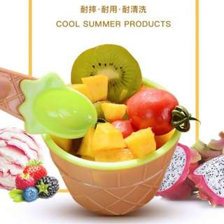 預購E商品: 冰淇淋造型碗(六色一組)