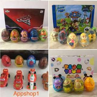 Surprise eggs (McQueen, tsum tsum, paw patrol) - children goodies favors, goody bag gift