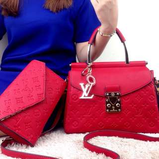 Louis Vuitton Mahena Leather with Clutch