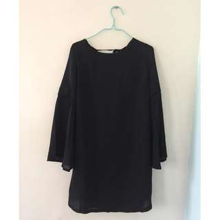 Something Borrowed Black Dress with bell sleeves