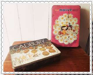 Vintage Meiji Japan and Cadbury Tins