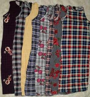 PLAID ZIP.MAXI DRESS