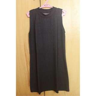 Soft Denim Turtleneck Dress