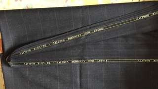 Cashmere High class cloth 優質西裝料