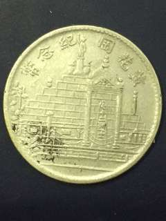 China silver coin foo kien province 20 Cent , 1928, Vf