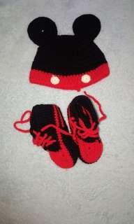 Baby Boy Mickey Mouse Crochet Set