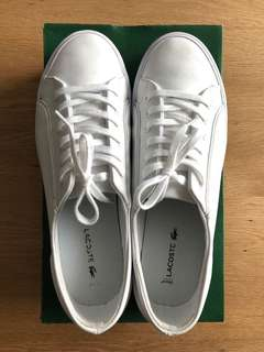 Lacoste Leather White Shoes (Size 39.5)
