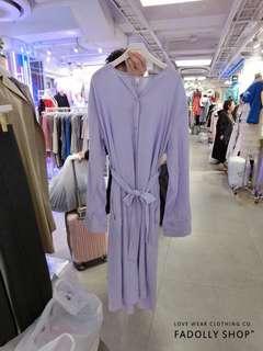 🚚 全新正韓紫色綁帶洋裝