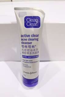 clean&clear acne clearing cleanser