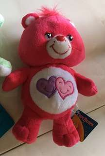 8 inches Red Care Bears