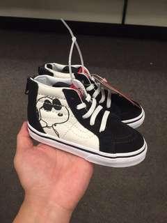 Vans史奴比聯名高筒童鞋(含運)
