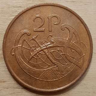 2000 Ireland 2 Pence Coin