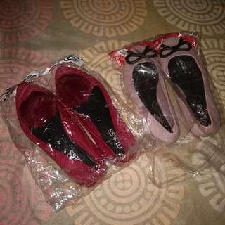 Flat shoes sz 33 & 35