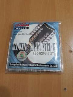 A set of NEW 12 stings Acoustic Guitar strings (Stainless Steel) Coated Copper Alloy Wound
