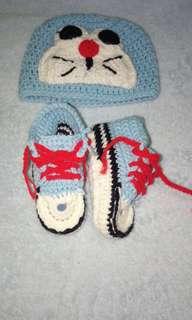Baby Boy Doraemon Crochet Set