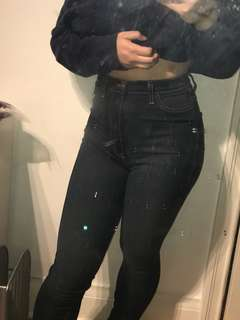 Super high waisted fashion nova skinny jeans